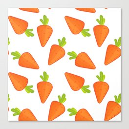 carrot pattern Canvas Print