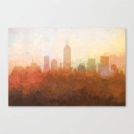 Indianapolis Skyline - In the Clouds Canvas Print