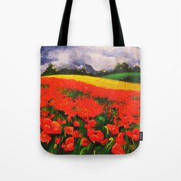 Poppies before the Storm Tote Bag