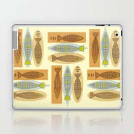 Fish In A Midcentury Modern Style Laptop & iPad Skin