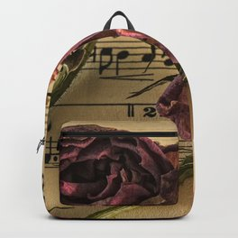 sheet music manuscript old time Backpack