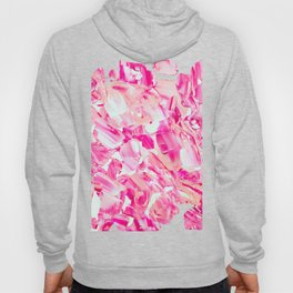modern abstract pink candy acrylic brushstrokes paint Hoody