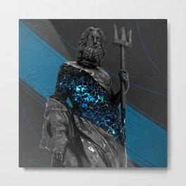 Voronoi Neptune Metal Print