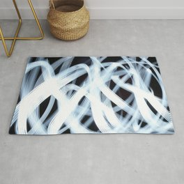 Scribbly Light Swoops Rug