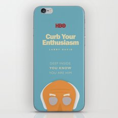 Curb Your Enthusiasm - Hbo tv Show with Larry David - Poster iPhone & iPod Skin
