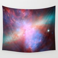nasa Wall Tapestries featuring Bright nebula galaxy stars bear constellation hipster geek cool space star nebulae NASA photo by iGallery