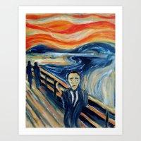 camus Art Prints featuring Albert Camus by Renee Bolinger