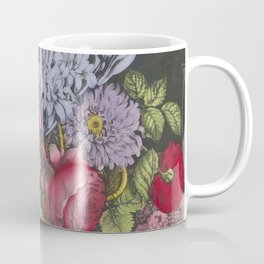 Vintage Floral Basket Illustration (1872) Coffee Mug