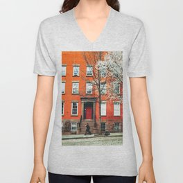 Brooklyn in the Springtime Unisex V-Neck