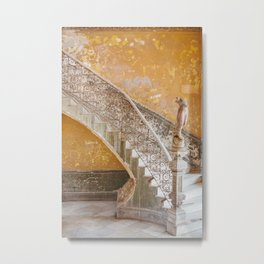 The Staircase - Havana Cuba Architecture, Travel Photography Metal Print