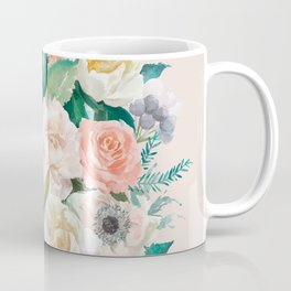 Pastel bouquet with roses Coffee Mug