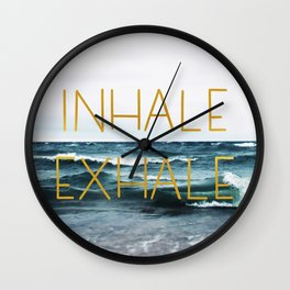 Inhale Exhale Wall Clock