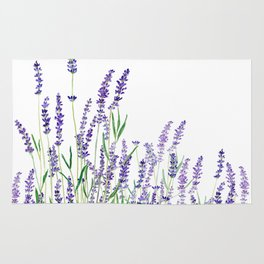 lavender watercolor horizontal Rug