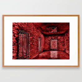4thDOOR NEON Framed Art Print