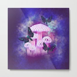 Twilight Moths Metal Print