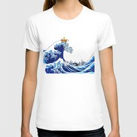 calvin hobbes T-shirts featuring Surfs up Calvin! by Ancora Imparo