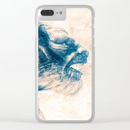 Werewolf Blues Clear iPhone Case