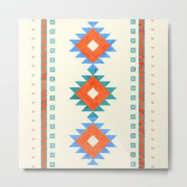 geometry navajo pattern no3 Metal Print