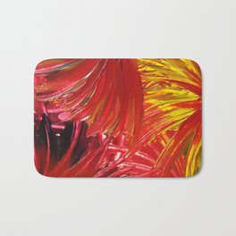 FIREWORKS IN RED - Stunning Bright Bold Autumn Colors Leaves Fall Festival 2012 Firecrackers Lights Bath Mat