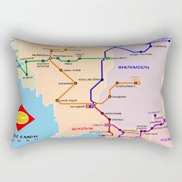 Fantastic metro map Rectangular Pillow