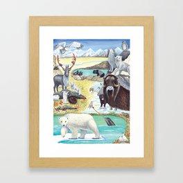 Arctic Tundra Animals Framed Art Print