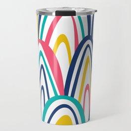 Arched Stripes Travel Mug