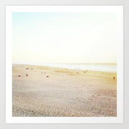 Ocean Beach, White Art Print
