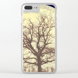 Under a Harvest Moon Clear iPhone Case