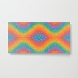 Colorful Liquid Holographic Pattern Abstract Rainbow Waves Metal Print