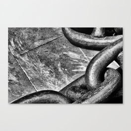 Chain on concrete Canvas Print