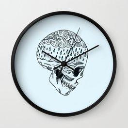 Skull Rain Wall Clock