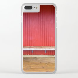 White Windows Red Wall Clear iPhone Case