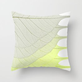 Leaves Yellow Throw Pillow