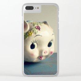 Pretty piggy Clear iPhone Case