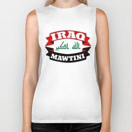 Iraq My Homeland Banner Biker Tank