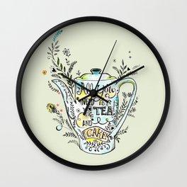 All You Need is Tea & Cake - 2 Wall Clock