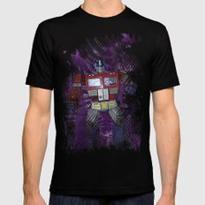 G1 - Optimus Prime MEDIUM Mens Fitted Tee Black