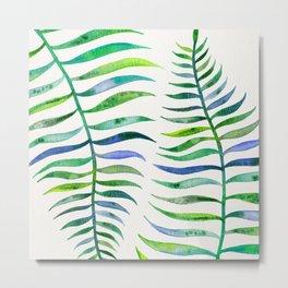 Palm Leaf – Green Palette Metal Print