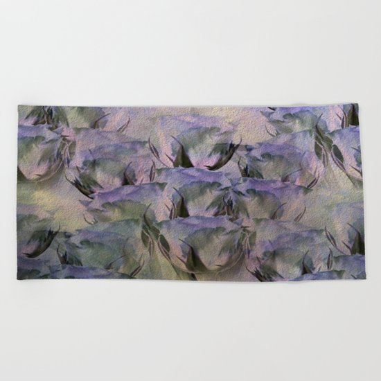 Glamorous Lavender Roses Abstract Beach Towel