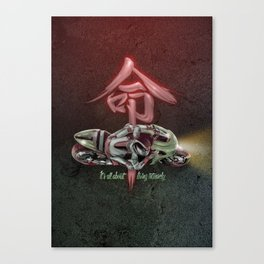 It's all about living intensely Canvas Print