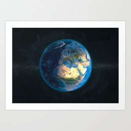 Globe: DayNight Europe Art Print