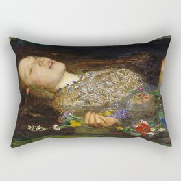 OPHELIA - JOHN EVERETT MILLAIS Rectangular Pillow