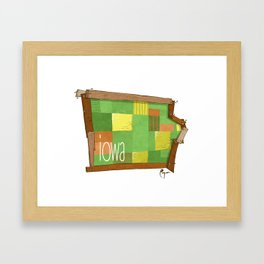 Iowa - the 29th State Framed Art Print