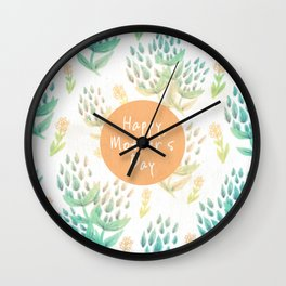 Happy Mother's Day Wall Clock