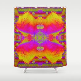 electric flower Shower Curtain