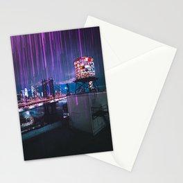 Lights above New York City Stationery Cards