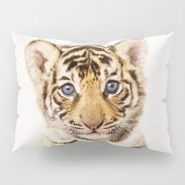 Baby Tiger, Baby Animals Art Print By Synplus Pillow Sham