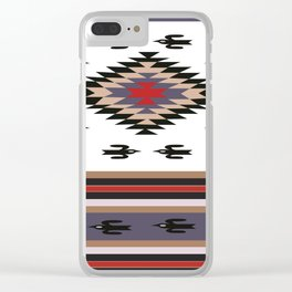 American Native Pattern No. 135 Clear iPhone Case
