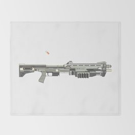 M-90 CAW Shotgun Throw Blanket