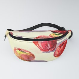 Red Apples watercolor Fanny Pack